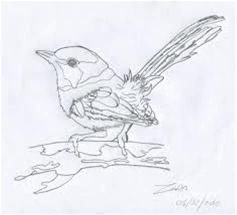 blue wren tattoo designs line drawing of a flying blue wren wren