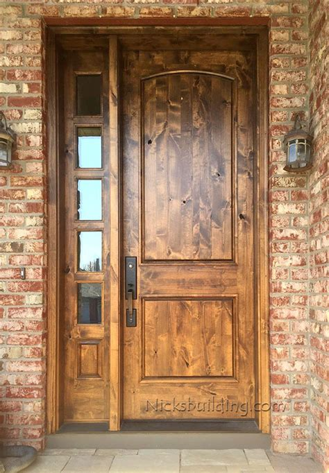 Rustic Doors With One Sidelite Sw 66 Rustic Front Entry Doors