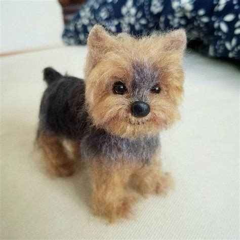 needle felted yorkie needle felted yorkie terrier puppy custom pet portrait sculpture wool