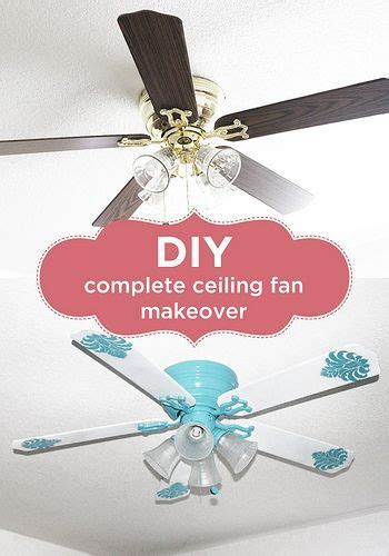 beachy looking ceiling fans turquoise sprays and stencils on
