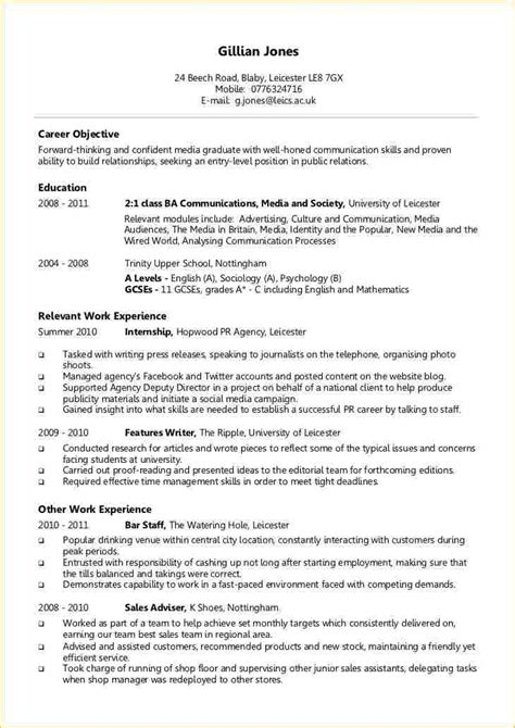 Example Of Chronological Resume by A Level Student Cv Examples Business Proposal Templated