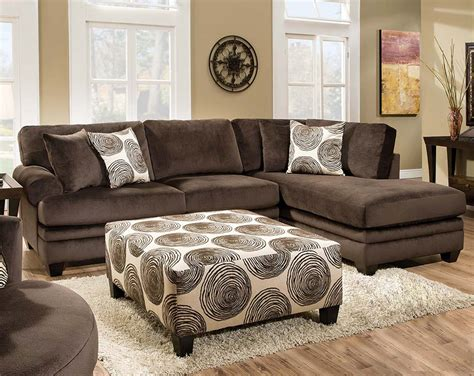 chocolate sectional with ottoman brown soft microfiber groovy chocolate two piece