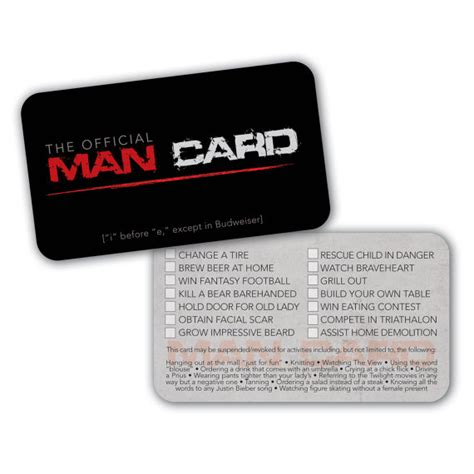 Printable Man Card | instant download printable official man card by thestudiodial