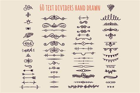 text dividers hand drawn illustrations creative market