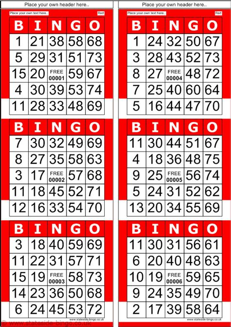 free printable number bingo cards bingo cards airandack chairs pinterest bingo patterns
