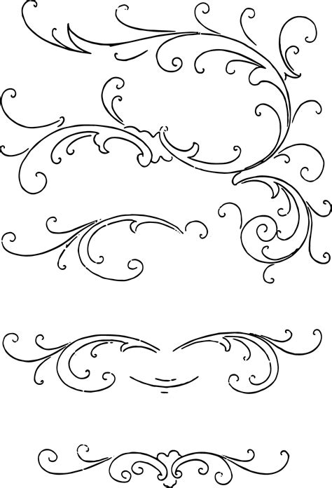 free clip art calligraphy ornaments vector and images