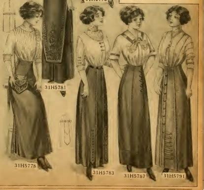 women's titanic fashion  second and third class