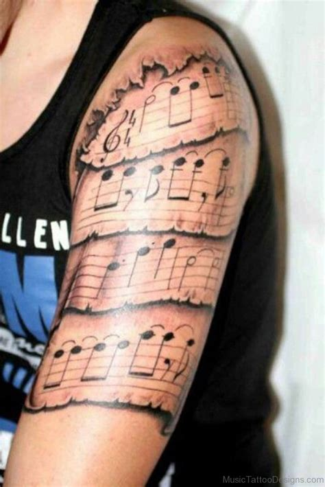 sheet music tattoo designs 92 tattoos