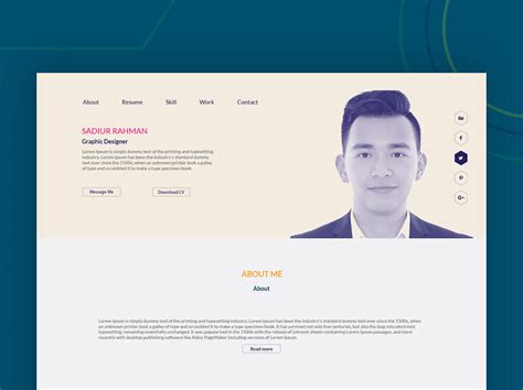 Resume Portfolio Free by Portfolio Resume Template Freebie Photoshop