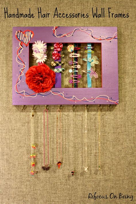 handmade hair accessories wall frames refocus on being