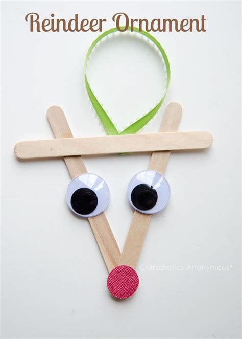 preschool christmas crafts reindeer ornaments