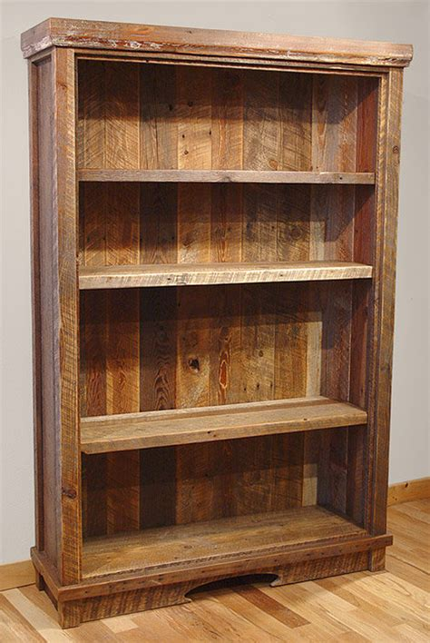 Reclaimed Barn Wood Rustic Heritage Bookcase Reclaimed Bookshelves