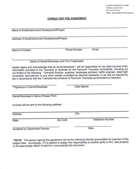 consulting fee agreement template 40 consulting agreement sles sle templates