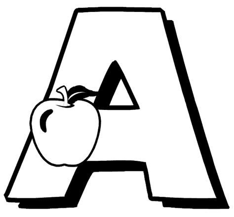 Letter A Coloring Page A Colouring Pages