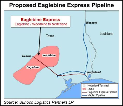 texas express pipeline map sunoco targets eaglebine crude with pipe conversion