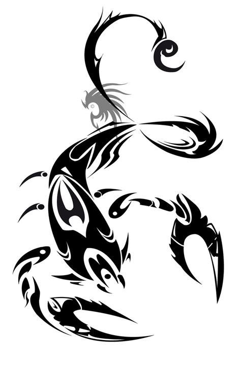 Scorpion Tribal Outline by Tribal Zodiac Viii Scorpion Design Tattoes Idea 2015 2016
