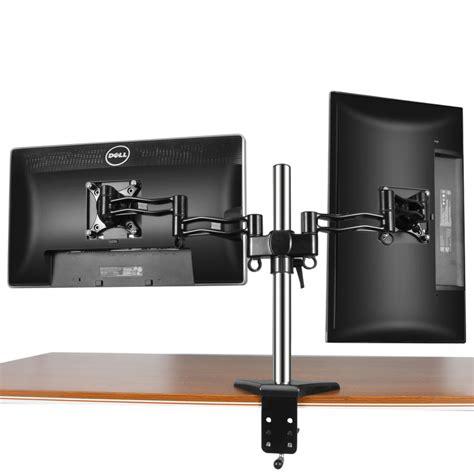 Swivel Arm Desk L by Dual Monitor Mount Desk Stand Adjustable Arm Tilt Swivel