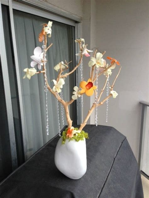 5 Modern Wedding Manzanita Tree Centerpieces Coral White White Manzanita Tree Centerpiece