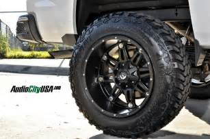 Up Truck Tires And Rims 2015 Chevy Silverado 1500 20 Quot Fuel Hostage Matte Black