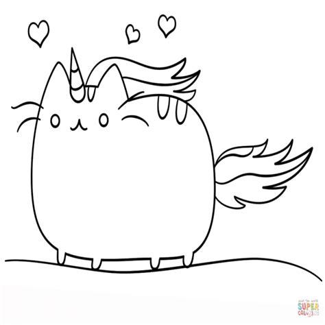 imagenes de unicornios infantiles para colorear dibujo de gato unicornio kawaii para colorear dibujos para