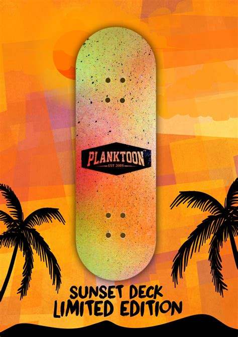 Planktoon Fingerboard Top Dual Set Deck Collection planktoon limited deck quot sunset deck quot pld50