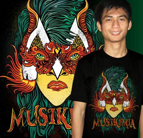 Tshirt Musikimia 3 the masked musikimia hellomotion