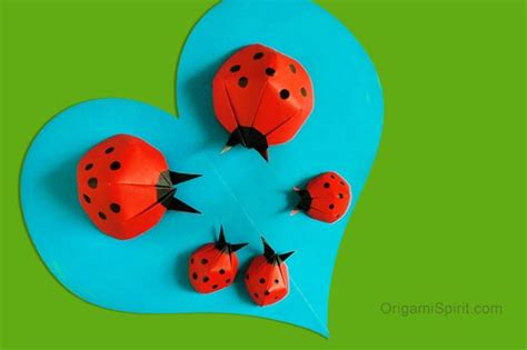 How To Make A Origami Ladybug - make an origami ladybug and bring yourself luck