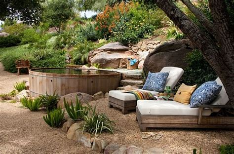 rustic landscaping ideas for a backyard redwood hot tubs on pinterest hot tubs tubs and spas