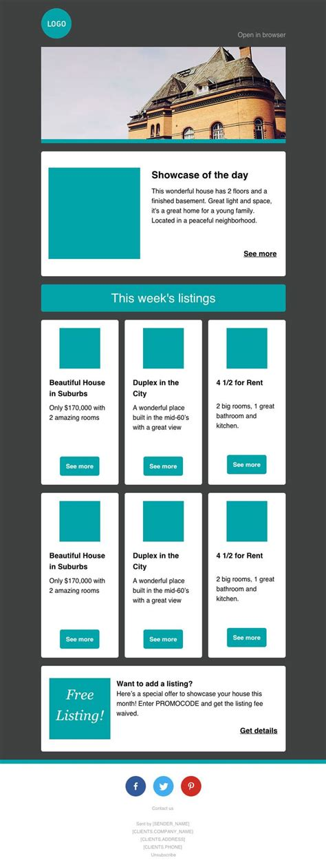 17 best ideas about free email templates on pinterest