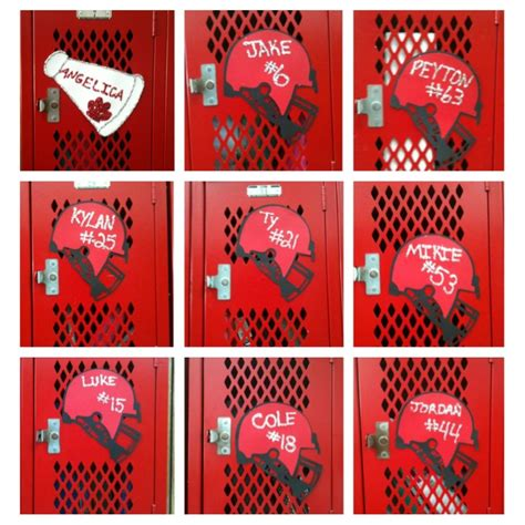 Football Locker Decorations by Hockey Bags Locker Decorations And Luck On