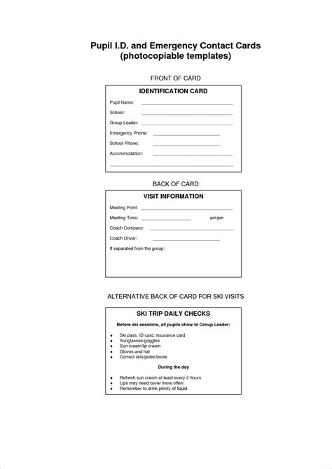 Template For Information Cards by Index Card Size Contact Information Template Pictures To