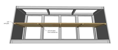 diy woodworking plans for buffet or console table