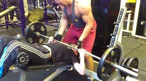 elliott hulse bench press 15 year old 70 kg bench press youtube