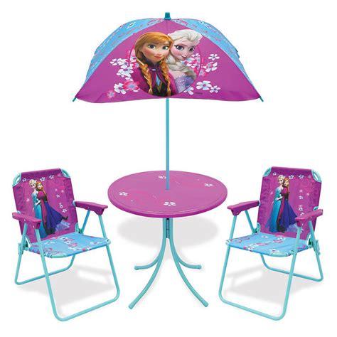 table chair umbrella set disney frozen patio table chairs and umbrella set
