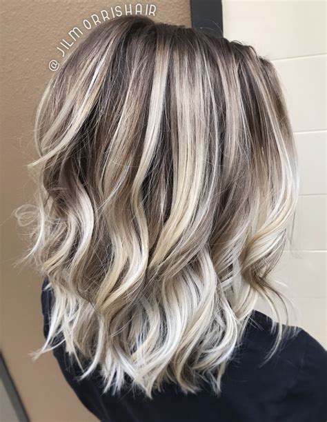 foil placement blonde rootfade cool icy ashy blonde balayage highlights shadow root
