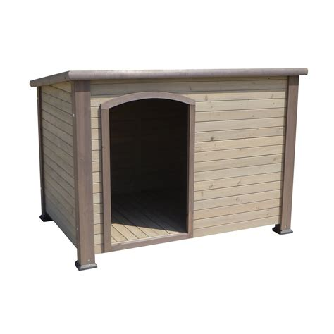 precision pet dog house precision pet extreme outback log cabin dog houses in taupe petco