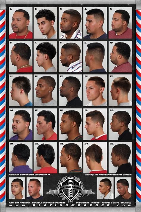 mens haircuts guide the barber hairstyle guide poster for black men
