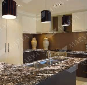 White Kitchen Cabinets With Brown Countertops - amarone granite designs marva marble and granite