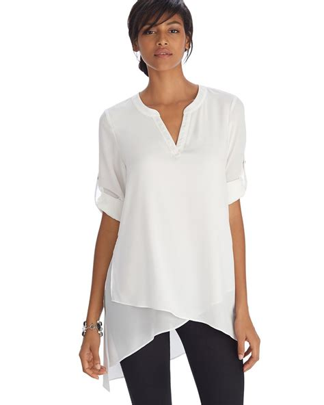 Longslevee Tunic sleeve asymmetrical henley tunic top products