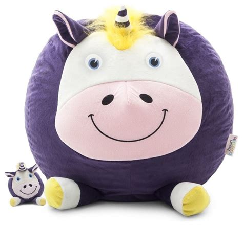 lilac unicorn baby bean bag comfort research bean bagimals with lil buddy unice the