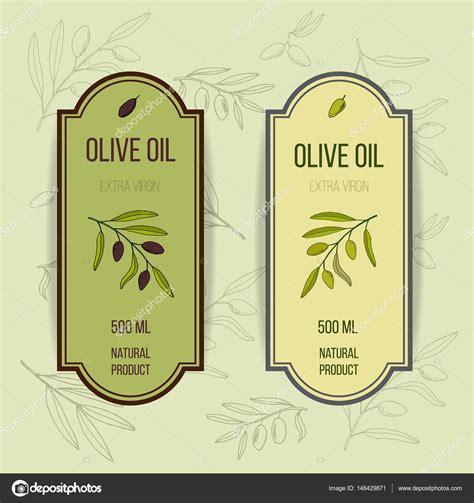 Etiketten Design Vorlage oliven 246 l etiketten vorlage stockvektor 146429871