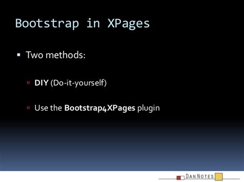 bootstrap themes for xpages bootstrap and xpages dannotes 2013