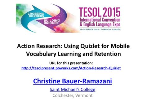 Teaching Vocabulary Through Thesis by Research Using Quizlet For Mobile Vocabulary
