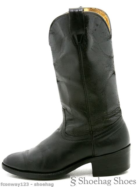 mens cowboy boots made in usa durango mens cowboy boots size 8 medium vtg black leather