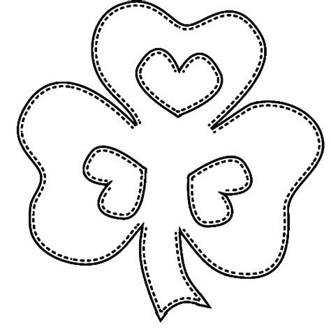 shamrock coloring pages free printable shamrock coloring pages for