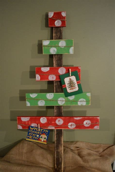 reclaimed red and green polka dot wood christmas tree