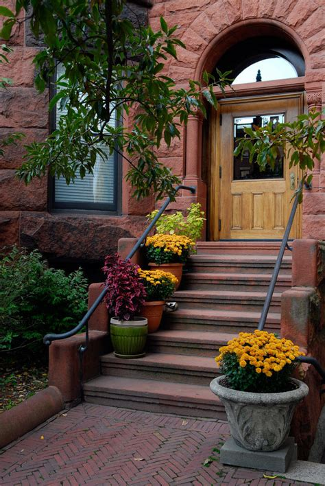 outdoor steps  flower planters  pots ideas