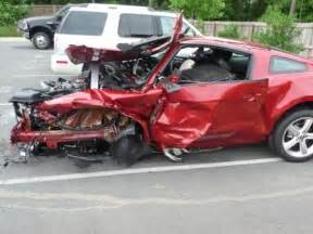 wrecked 2010 mustang gt on test drive, five star safety