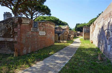 necropoli di porto isola sacra necropolis port mobility civitavecchia