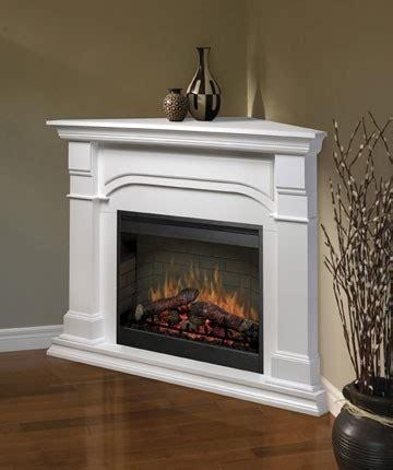 corner fireplaces: ventless gas fireplace corner white
